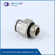 Air-Fluid Straight Male All Metal Fittings