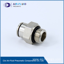 Air-Fluid Metal Straight Male Connector Fittings