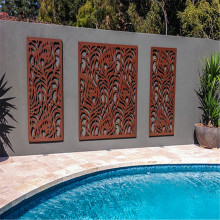 Metal outdoor decorative laser cut screens
