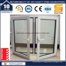 2015 Top Rank Powder Coating White Aluminium Casement Window
