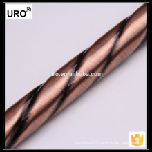2015 factory price plating curtain pipe, twist curtain rod