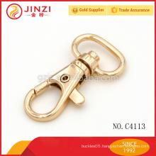 Shiny Gold snap hook,metal fittings for handbags