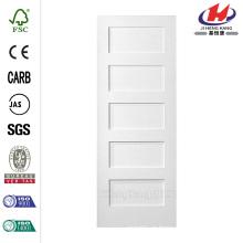 30 polegadas x 80 polegadas Série MDF Liso 5-Painel Igual Solid Core Primed Composto Single Prehung Porta Interior