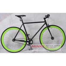 Bicicleta del engranaje fijo de acero de Cromoly (diente y rueda libre incluidas)