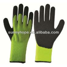 Acryl thermische Arbeitshandschuhe, Handfläche und Daumen getaucht