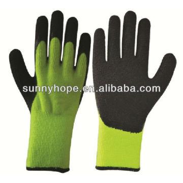 Luvas acrílicas de trabalho térmico, palma e polegar mergulhados