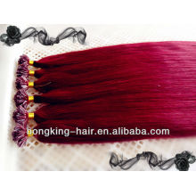Factory price cheap 5A top grade 100% Human hair U tip hair extensions prebounded hair in Qingdao