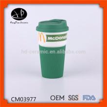 Nouveaux produits 2015 produit innovant émaillant mug travel mug, promotionnelle en céramique