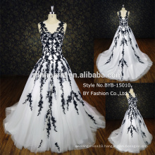 2016 elegant sleeveless applique lace ball gown wedding dress party dress BYB-15010