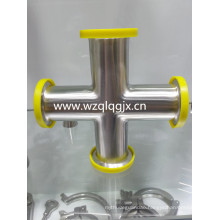 Sanitary Stainless Steel Pipe Fitting Butt Welding Cross