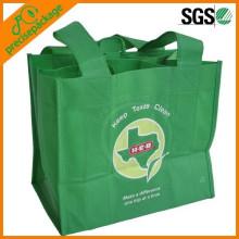 6 Bottle Pack Promotional Reusable Non Woven Wine Bag