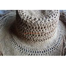 Correa tejida del sombrero de paja de la rafia con el ventilador del cuello Directo del proveedor de la fábrica de China