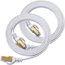 Cable LAN RJ45 blindado Gigabit plano Ethernet CAT7