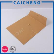 2017 изготовленный на заказ напечатанные белым шрифтом бумажный конверт мешок