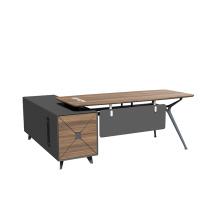 modern  L-shaped office desk wooden