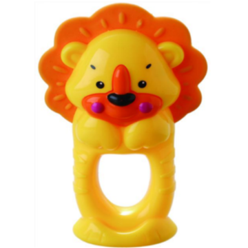 Barnbadring Leksak Lion Teether Bell Toy
