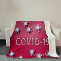 COVID-19 3D-Digitaldruck-Flanell-Fleecedecke