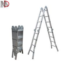 Made in China 15.5FT 150kg heavy duty aluminium folding ladder