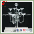 Exquisite 7 Arms Crystal Candle Holder & Candelabra for Wedding Centerpiece