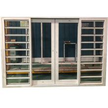 White color single tempered clear glass hurricane impact aluminum jalousie window