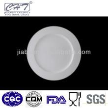 A005 White sliver rim wholesale porcelain restaurant dinner plates