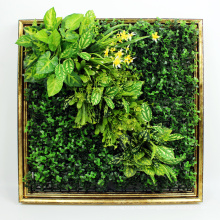 Top sale DIY removable Art 3D plant cafe wall with foliage