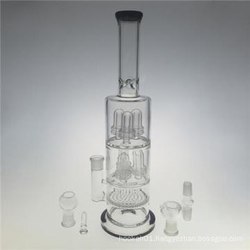 Huge Showerheads Blown Hookah Glass Water Pipes for Smoking (ES-GB-401)