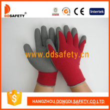 String Knitted Foam Latex Coated Safety Gloves Dkl411