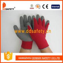 Luvas de segurança revestidas de malha de espuma de látex Dkl411