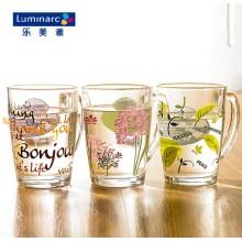 Tasse à café en verre Luminarc avec une fleur imprimée (