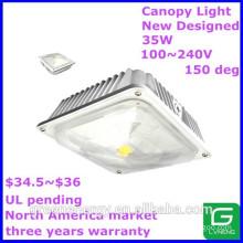 canada america north america popular 35w ul pending led canopy light ip44 housing using aluminum