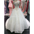 Luxury Ivory Ball Gown Sweetheart Neck Backless Crystal Beaded Royal/ Cathedral Long Train Wedding Dress A096