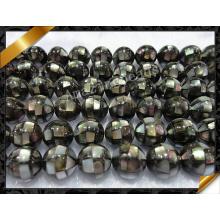 Abalone Paua Shell Ball Loose Beads, Black Round Beads Jewelry (APS023)