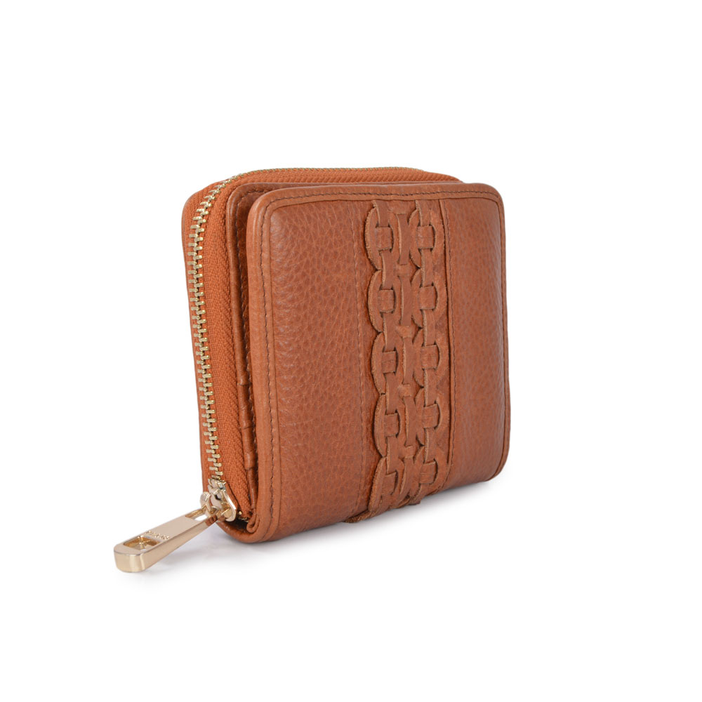 genuine leather woman hand wallet