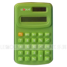 8 Digits Dual Power Handheld Calculator Measures 104*67*11mm (LC321C)