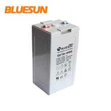 China manufacturer long life gel solar battery 2v 600ah battery solar for system