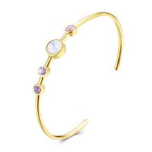 18k Gold buntes Diamant-Mädchen-süßes Armband-reizendes Frauen-Armband