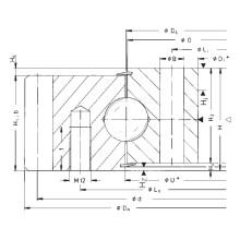 Rothe Erde External Gear Single Row Ball Slewing Bearings 061.30.1180.000.11.1504