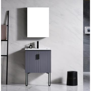 New bathroom cabinet grey and white color