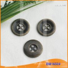 Bouton en alliage de zinc et boutons en métal et bouton de couture métallique BM1650