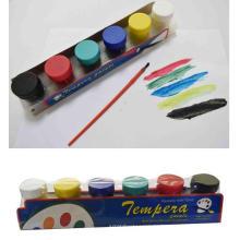 6pcs al por mayor pintura colorida del silicio de la pintura Anuncio del pigmento soluble en agua