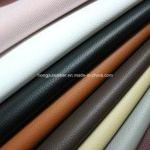 Cuero artificial colorido de alta espuma caliente del PVC de la venta para el asiento de carro (HS033 #)