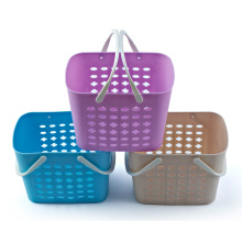 Plastic Colorful Shopping Basket with Handle
