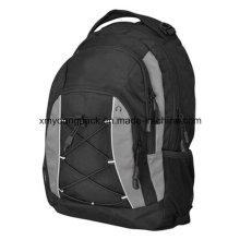Negro 600d poliéster moda mochila bolsa de deporte