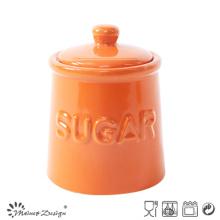 Colorful Glazing Homestyle Sugar Pot