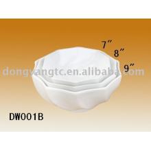 Tazón de fuente de la porcelana de 7/8/9 pulgadas, cuenco de arroz, cuenco de sopa, cuenco de cerámica, cuenco de postre, cuenco de la merienda