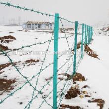 Cerca de alta segurança militar PVC revestido de arame farpado preço barato por rolo para cerca