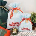 Light Blue Christmas Treat Bags Niños