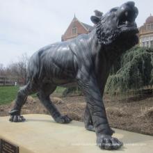 Estátua de tigre de bronze em tamanho real de alta qualidade