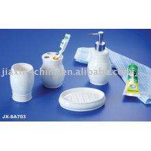 Conjunto de casa de banho em cerâmica cor branca JX-SA703